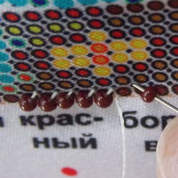 Подбор материалов вышивки